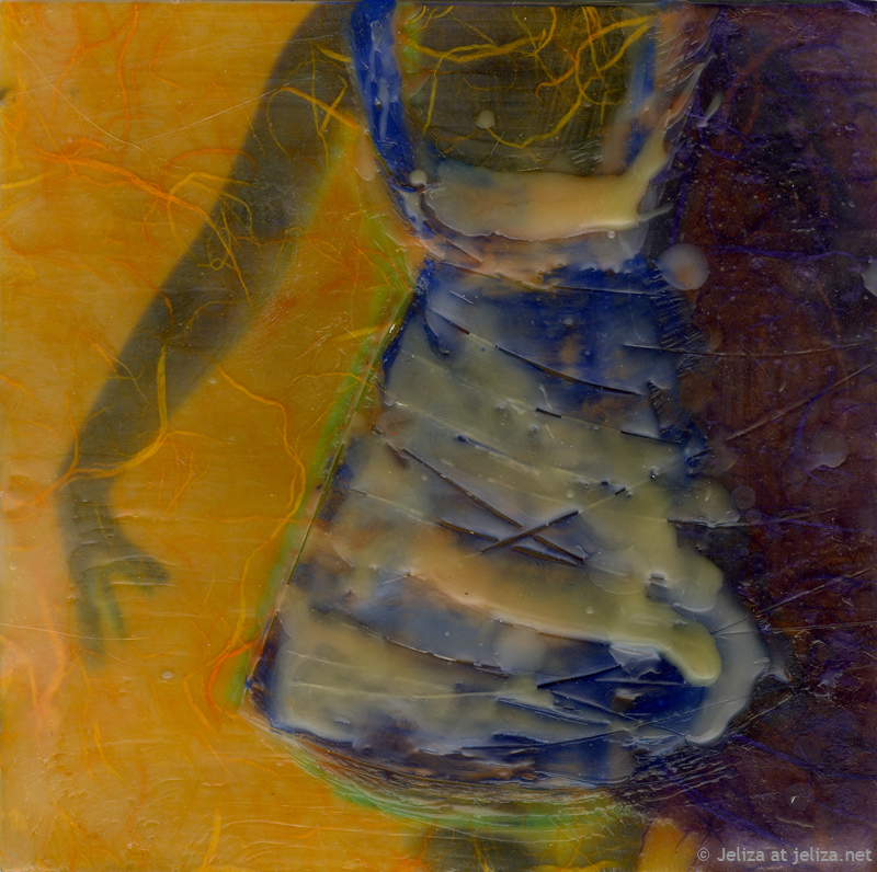 Party Girl, encaustic, 2012