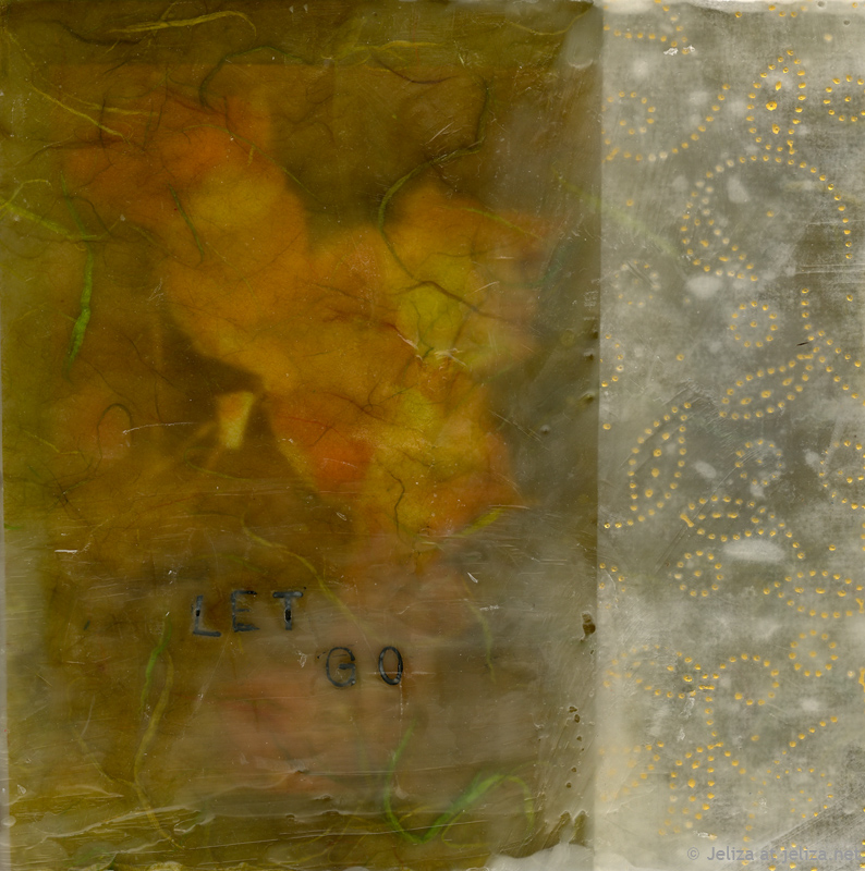 Let Go, encaustic, 2012